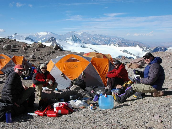 At Base Camp Resting